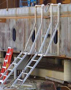 Wall Opening Ladder for Material Access