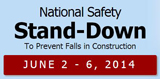 SHA Fall Prevention Safety Stand Down June 2nd - 6th 2014