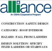 OSHA Alliance and Fixed Ladders or Stairways for Fall Prevention