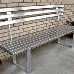 Aluminum Bench in Public Area