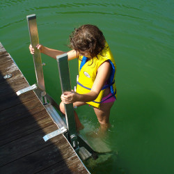 Marine Recreation Access Ladder for Dock